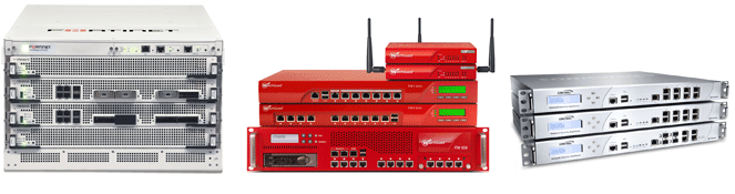 Fortinet, Watchguard and SonicWALL Firewalls