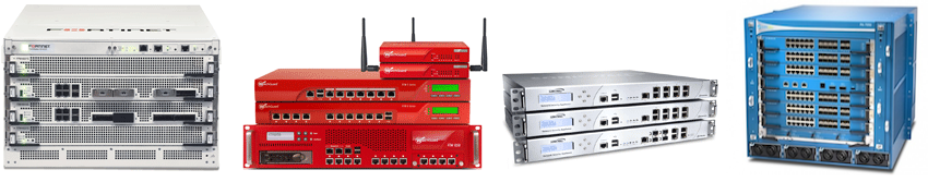 Fortinet, Watchguard, SonicWALL and Palo Alto Networks Firewalls